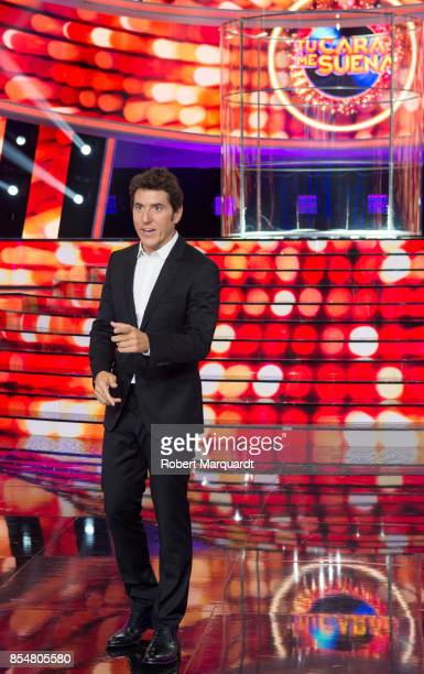 Manel Fuentes poses for the press during a presentation of a new season of 'Tu Cara Me Suena' at the Media Park Studios on September 27 2017 in...