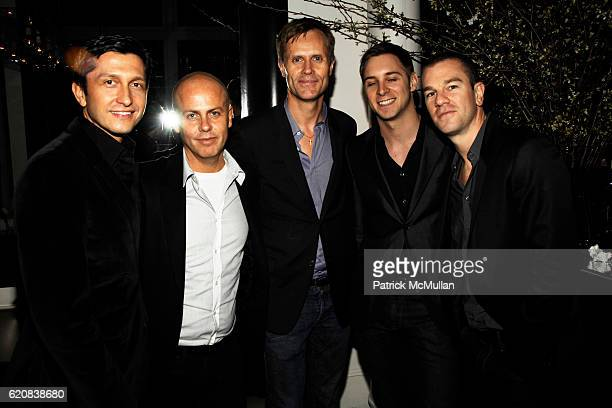 Manel Garcia Espejo Italo Zucchelli Malcolm Carfrae Jason Lord and Josh Reed attend THE CINEMA SOCIETY and CALVIN KLEIN JEANS Host the After Party...