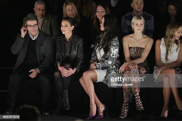 Manel Jadraque Katie Holmes Adriana Lima Lena Gercke and DJ Harley VieraNewton attend the Desigual fashion show during MercedesBenz Fashion Week Fall...