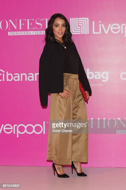 Manelyk Gonzalez of Acapulco Shore attends the Liverpool Fashion Fest Spring/Summer 2017 at Televisa San Angel on March 9 2017 in Mexico City Mexico