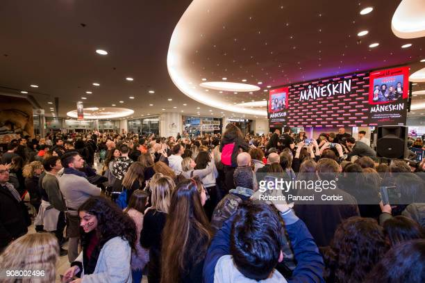 Maneskin Meet The Fans In Rome on January 18 2018 in Rome Italy