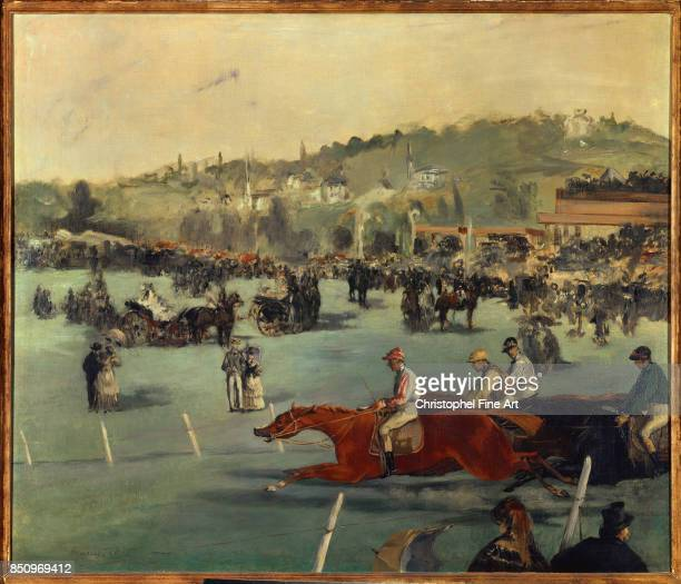 Manet Edouard The Races in the Bois de Boulogne 1872 Private Collection