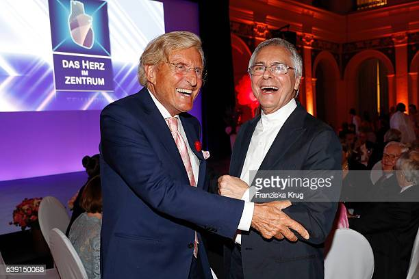 Manfred Baumann and John Neumeier attend the 'Das Herz im Zentrum' Charity Gala on June 9, 2016 in Hamburg, Germany.