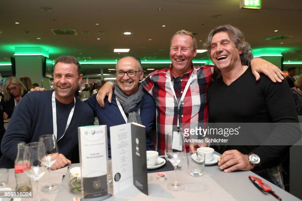 Manfred Binz Juergen Kohler Juergen Mohr and Gerald Ehrmann at the club of former national players meeting prior to / after the FIFA 2018 World Cup...
