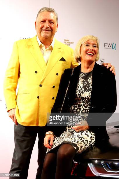Manfred Dirrheimer arrives with his wife Angela Dirrheimer at the Players Night of the 102 BMW Open by FWU at Iphitos tennis club on April 30 2017 in...