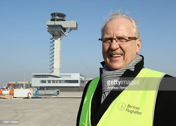 Manfred Koertgen, director technology of BBI Airport, stands near the control tower at the main terminal of the new Airport Berlin Brandenburg...