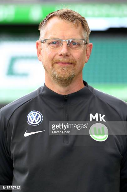 Manfred Kroß of VfL Wolfsburg poses during the team presentation at on September 13 2017 in Wolfsburg Germany