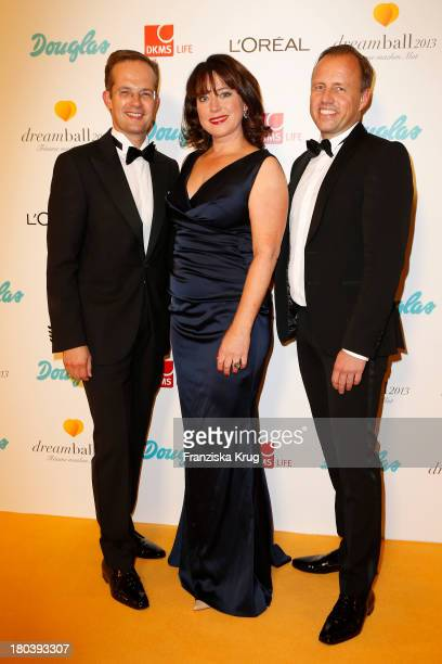 Manfred Kroneder, Ruth Neri and Godo Kraemer attend the Dreamball 2013 charity gala at Ritz Carlton on September 12, 2013 in Berlin, Germany.