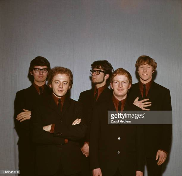 Manfred Mann British pop group posed in a group portrait circa 1965