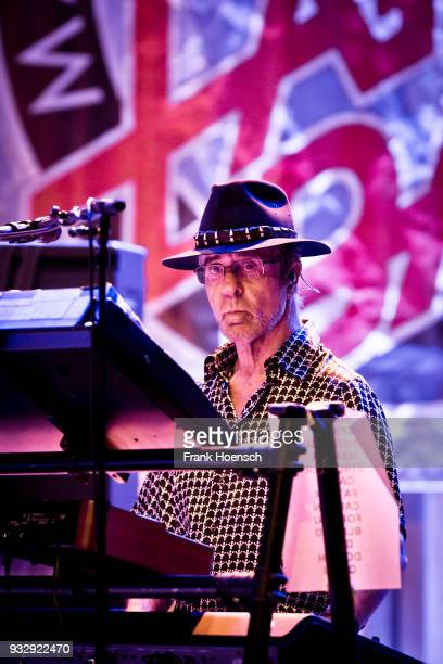 Manfred Mann of the British group Manfred Manns Earth Band performs live on stage during a concert at the ErnstReuterSaal on March 16 2018 in Berlin...