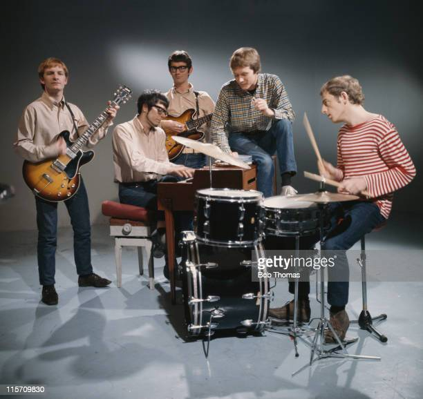 Manfred Mann pop group in a performance shot in October 1965