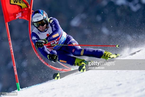 Manfred Moelgg of Italy in the second run of the Audi FIS Alpine Ski World Cup Men's Giant Slalom on October 27 2019 in Soelden Austria