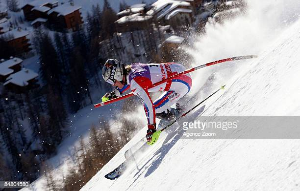Manfred Pranger of Austria takes 1st Place during the Alpine FIS Ski World Championships Men's Slalom on February 15 2009 in Val d'Isere France