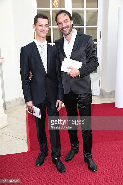 Manfred Stecher brother of Alexander Klaus Stecher and his son Maximilian Stecher during the 'Die Goldene Deutschland' Gala on July 26 2015 at...