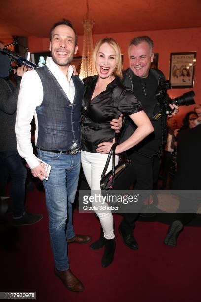 """Manfred Stecher, Christine Zierl, former """"Dolly Dollar"""" during the premiere of the theatre play """"Noch einmal verliebt"""" at Komoedie im Bayerischen Hof..."""