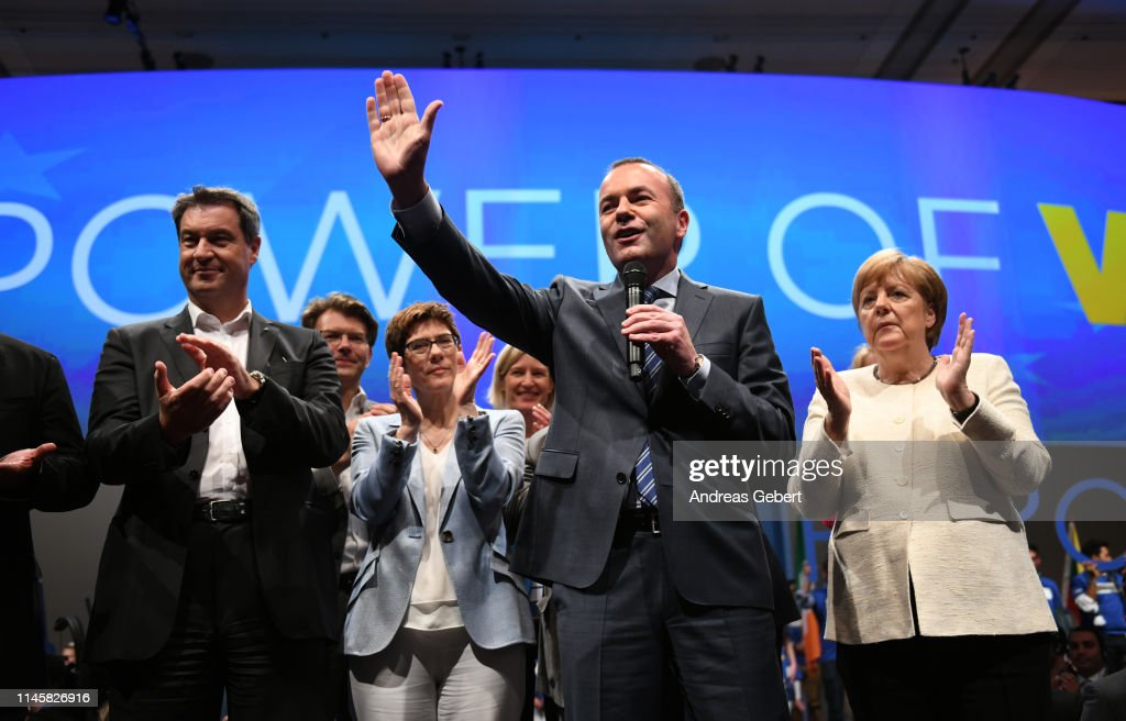 DEU: Manfred Weber Campaigns With CDU/CSU In Munich
