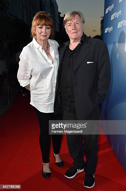 Manfred Zapatka and his wife Margarete Zapatka during the ARD Degeto Get Together during the Munich Film Festival 2016 at Kaisergarten on June 24...