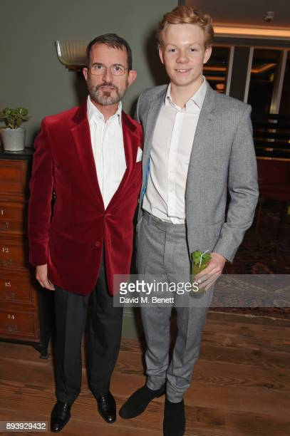 Manfredi della Gherardesca and Alexander Dundas attend Alexander Dundas's 18th birthday party hosted by Lord and Lady Dundas on December 16 2017 in...