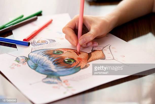 Manga peintre