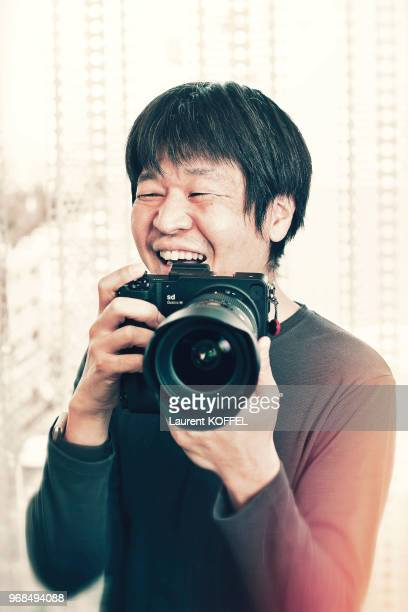 Mangaka Yoshitoshi Abe is photographed for Self Assignment on March 28 2017 in Tokyo Japan