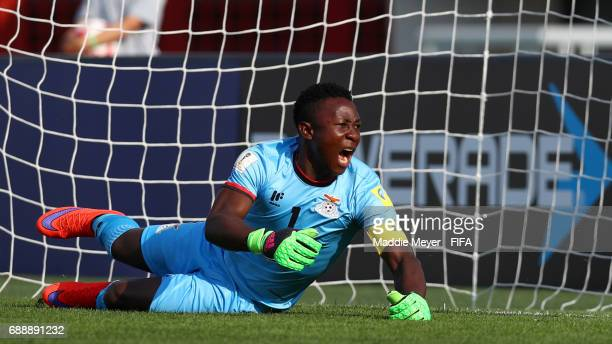 Mangani Banda of Zambia reacts after Jostin Daly of Costa Rica scored a goal during the FIFA U20 World Cup Korea Republic 2017 group C match between...