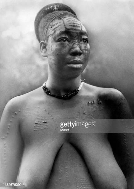 Mangbetu woman, belgian congo, africa 1927 1930.