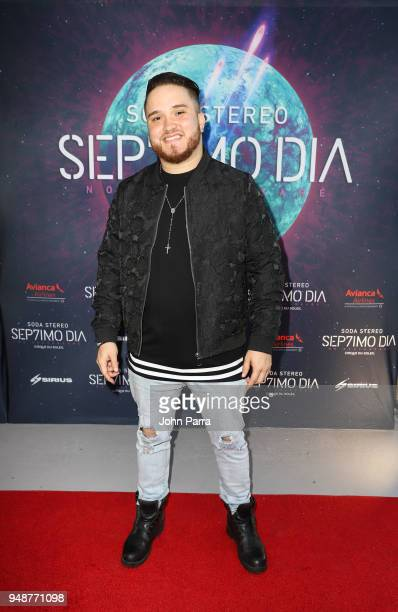 Mangel Menez attends Miami Premiere of SEP7IMO DIA No Descansare by Cirque du Soleil at Watsco Center on April 18 2018 in Coral Gables Florida