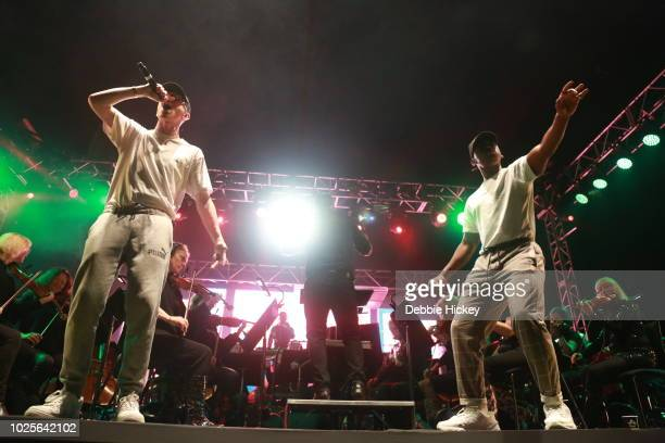 Mango and Jafaris performs at 2FM Live: The Story of Hip Hop with the RTE Concert Orchestra Electric Picnic 2018 at Stradbally Hall Estate on August...