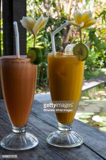 Mango and Papays drinks on  The famous Campuhan Ridge Walk in Ubud, Bali, Indonesia