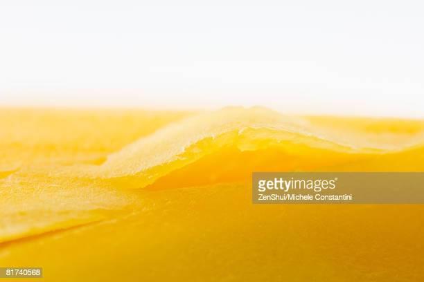 Mango flesh, extreme close-up