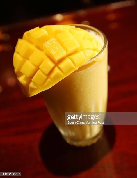 Mango Freeze - a mix of banana, fresh mango, pineapple juice and mango juice, at Tiffany's New York Bar, Intercontinental Grand Stanford Hong Kong,...