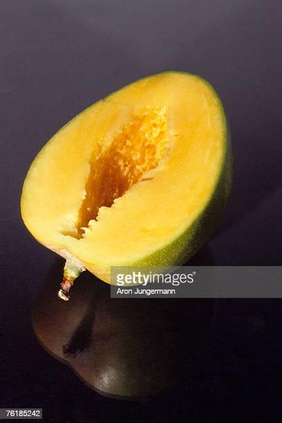 A mango half