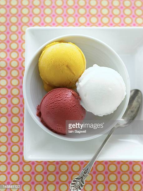 Mango, Lemon & Raspberry Sorbetto