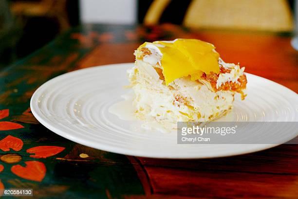 Mango Meringue Cake