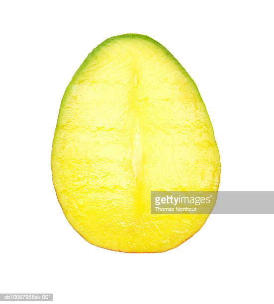 Mango slice on white background