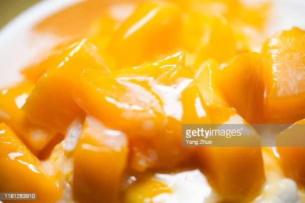 mango sorbet - mango stock-fotos und bilder