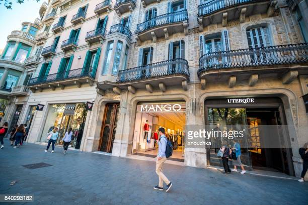 Mango store at Passeig de Gracia, shopping street in Barcelona, Spain