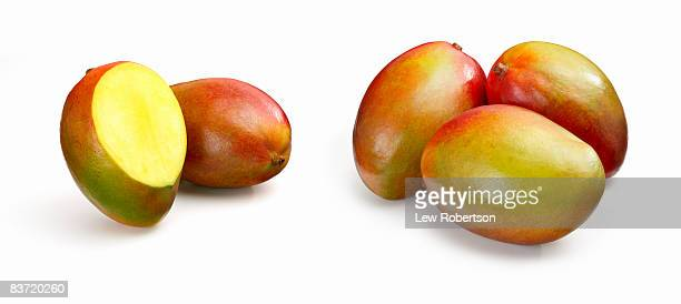 Mangoes on white