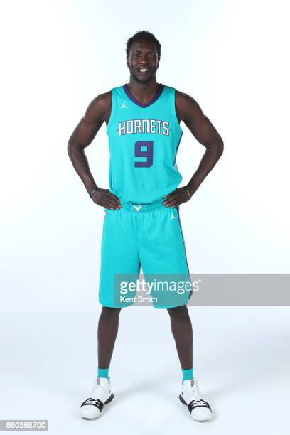 Mangok Mathiang of the Charlotte Hornets poses for a portrait during media day on September 25 2017 at Spectrum Center in Charlotte North Carolina...