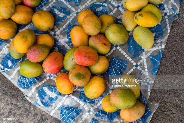 Mangos for sale in the street in St John's