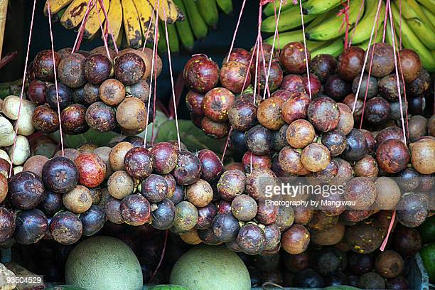 mangosteen fruit - bogor stock pictures, royalty-free photos & images