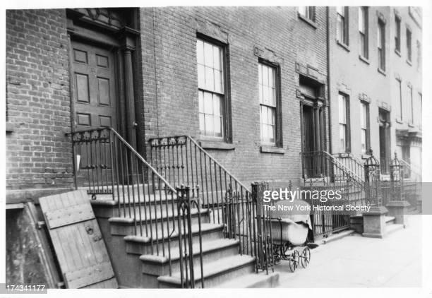 Hudson Street, west side, looking toward Debrosses Street and Canal Street, Site of Lispenard House, 195 Hudson Street, New York, New York, 1922.