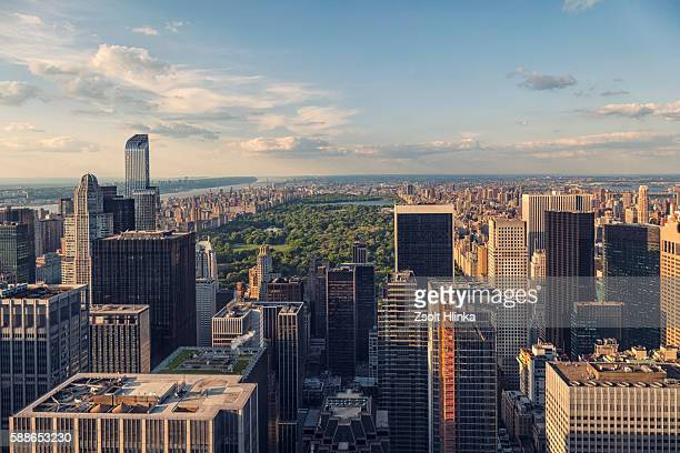 Manhattan aerial view, New York, USA