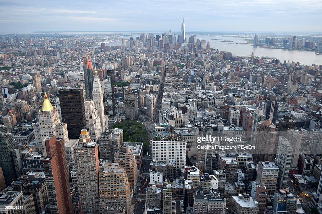 Manhattan Against Sky Seen From Empire State Building : Foto stock