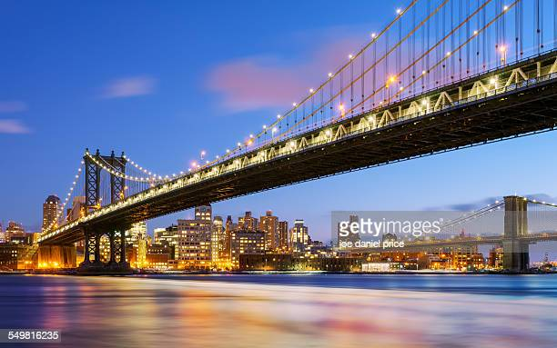 manhattan and brooklyn bridge, new york city, us - brooklyn bridge stock pictures, royalty-free photos & images