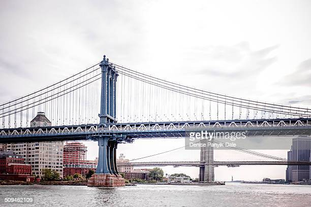 manhattan and brooklyn bridges - national_historic_landmark stock pictures, royalty-free photos & images
