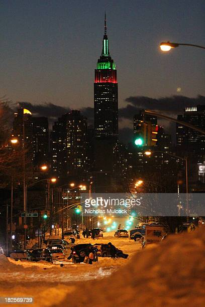 CONTENT] Manhattan and the Empire State Building in New York City from Sunnyside Queens after an intense snow storm left the city crippled Dubbed...
