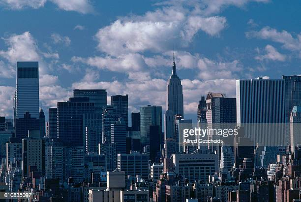 Manhattan as seen looking south from the Upper East Side New York City 1982