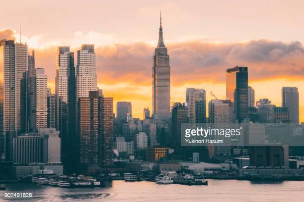 Manhattan at morning twilight