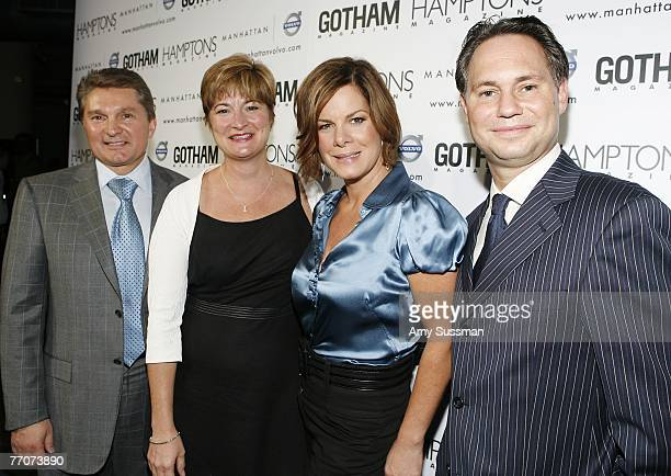 Manhattan Auto Group President and CEO Gary Flom Volvo's President and CEO Anne Belec actress Marcia Gay Harden and CEO of New York''s Niche Media...